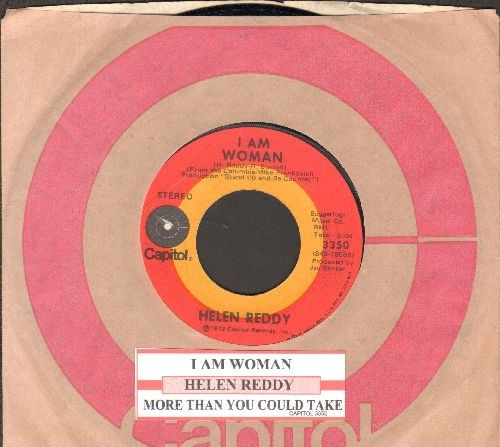 Reddy, Helen - I Am Woman/More Than You Could Take (with juke box label Capitol company sleeve) - NM9/ - 45 rpm Records