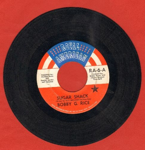 Rice, Bobby G. - Sugar Shack/Sweet Lil Ol' You - VG7/ - 45 rpm Records
