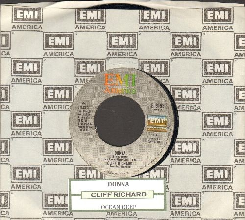 Richard, Cliff - Donna (ULTRA-DREAMY cover version of Richie Valens Hit!)/Ocean Deep (with EMI company sleeve and juke box label) - NM9/ - 45 rpm Records