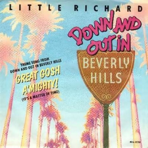 Little Richard - Great Gosh A'Mighty! (featured in film -Down And Out In Beverly Hills-)/The Ride (by Charlie Midnight on flip-side) (with picture sleeve) - M10/EX8 - 45 rpm Records
