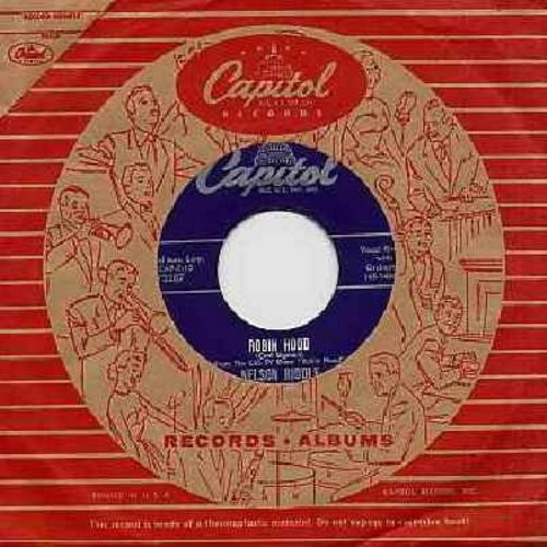Riddle, Nelson - Robin Hood (Theme from 1950s TV Series 'Robin Hood')/Lisbon Antigua (with RARE Vintage Capitol company sleeve) - NM9/ - 45 rpm Records
