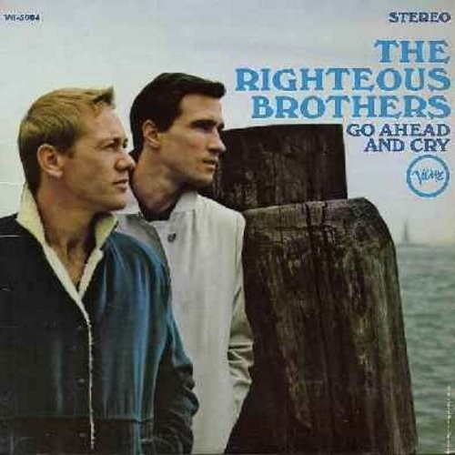 Righteous Brothers - Go Ahead And Cry: Let It Be Me, Save The Last Dance For Me, What Now My Love, Stagger Lee, Island In The Sun (Vinyl MONO LP record) - EX8/EX8 - LP Records