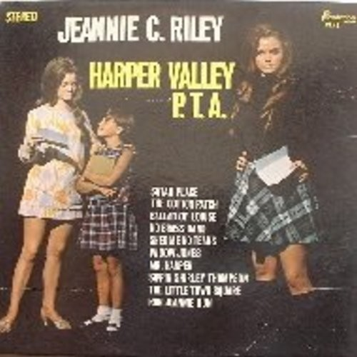 Riley, Jeannie C. - Harper Valley P. T. A.: Shed Me No Tears, Sippin' Shirley Thompson, Ballad Of Louise, Run Jeannie Run, Widow Jones, Satan Place (Vinyl STEREO LP record) - NM9/EX8 - LP Records
