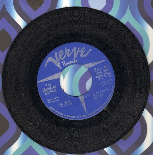 Righteous Brothers - You're My Soul And Inspiration/B Side Blues  - EX8/ - 45 rpm Records