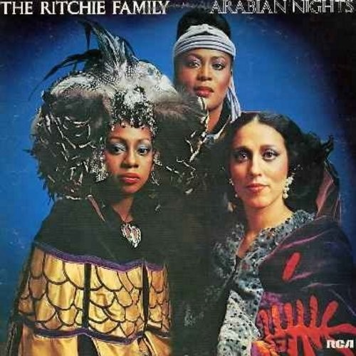 Ritchie Family - Arabian Nights: The Best Disco In Town (6:35 minute extended version), Baby I'm On Fire (5:05), Romantic Love (5:55), Arabian Nights Medley, In A Persian Market (German Pressing) - NM9/EX8 - LP Records