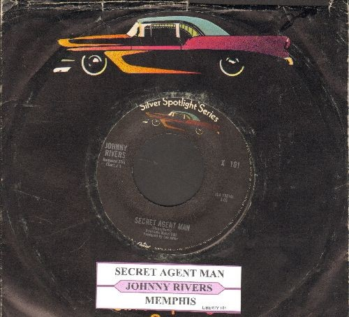 Rivers, Johnny - Secret Agent Man/Memphis (early double-hit re-issue with juke box label and company sleeve) - NM9/ - 45 rpm Records