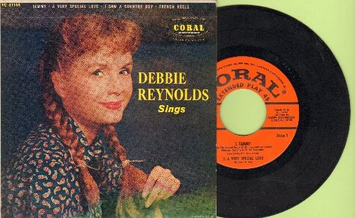Reynolds, Debbie - Debbie Reynolds sings: Tammy/A Very Special Love/I saw A Country Boy/French Heels (vinyl EP record with picture cover) - EX8/EX8 - 45 rpm Records