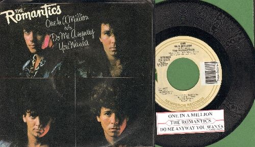 Romantics - One In A Million/Do Me Anyway You Wanna (with picture sleeve and juke box label) - NM9/EX8 - 45 rpm Records