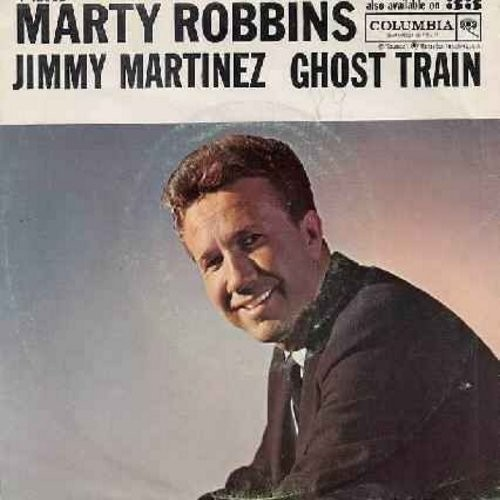 Robbins, Marty - Ghost Train/Johnny Martinez (with picture sleeve) - VG7/EX8 - 45 rpm Records