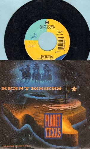Rogers, Kenny - Planet Texas/When You Put Your Heart In It (with picture sleeve) - NM9/NM9 - 45 rpm Records