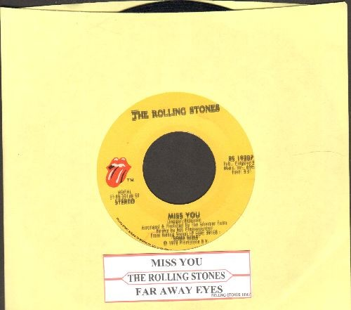 Rolling Stones - Miss You/Far Away Eyes (with juke box label) - EX8/ - 45 rpm Records