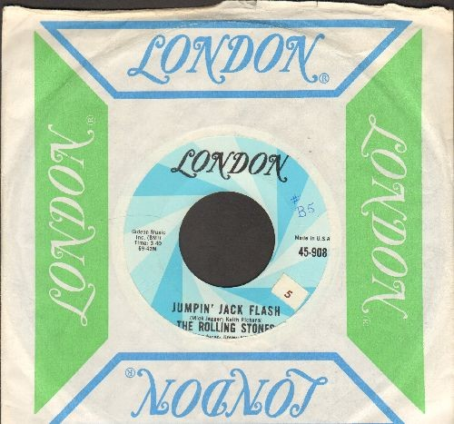 Rolling Stones - Jumpin' Jack Flash/Child Of The Moon (with London company sleeve) - EX8/ - 45 rpm Records