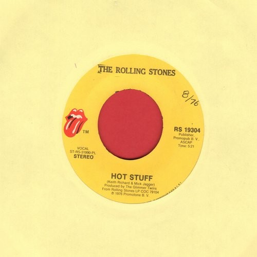 Rolling Stones - Hot Stuff/Fool To Cry - VG7/ - 45 rpm Records