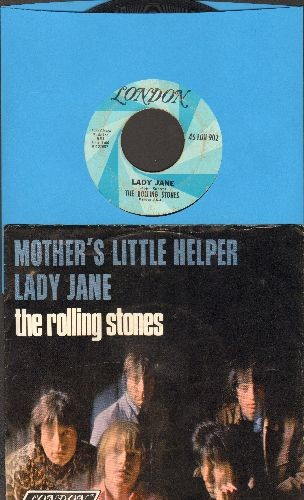 Rolling Stones - Mother's Little Helper/Lady Jane (with picture sleeve) - EX8/EX8 - 45 rpm Records