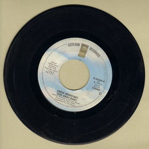 Ronstadt, Linda - Ooh Baby Baby/Blowing Away  - EX8/ - 45 rpm Records