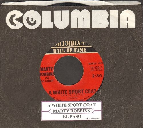Robbins, Marty - A White Sport Coat (And A Pink Carnation)/El Paso (double-hit re-issue with juke box label) - VG7/ - 45 rpm Records