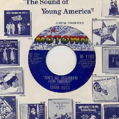 Ross, Diana - Ain't No Mountain High Enough/Can't It Wait Until Tomoroow (with Motown company sleeve) - EX8/ - 45 rpm Records
