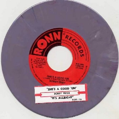 Rush, Bobby - It's Alright/She's Good 'Un (bubblegum color vinyl re-issue with juke box label) - NM9/ - 45 rpm Records