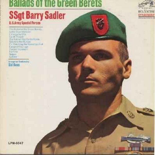 Sadler, SSgt Barry - Ballads Of The Green Berets: Letter From Vietnam, The Soldier Has Come Home, Salute To The Nurses, Saigon, Badge Of Courage (Vinyl LP record) - EX8/EX8 - LP Records