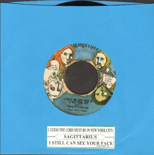 Sagittarius - I Guess The Lord Is In New York City/I Still Can See Your face (with juke box label) - EX8/ - 45 rpm Records