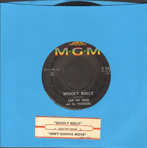 Sam The Sham & The Pharaohs - Wooly Bully/Ain't Gonna Move (with juke box label) - EX8/ - 45 rpm Records