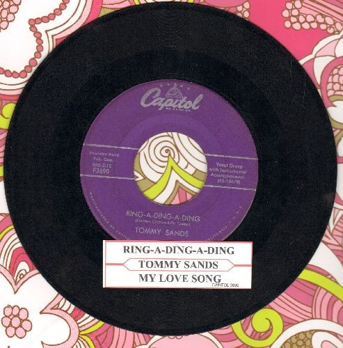 Sands, Tommy - Ring-A-Ding-Ding/My Love Song (with juke box label) - VG7/ - 45 rpm Records
