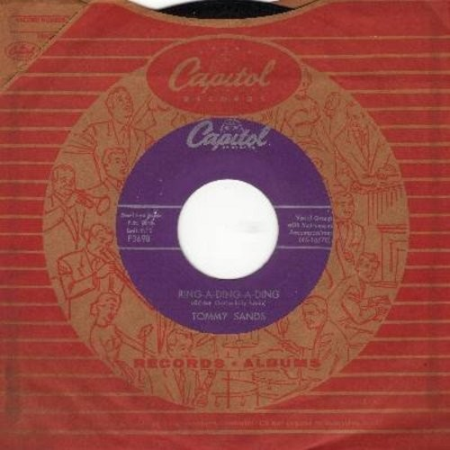 Sands, Tommy - Ring-A-Ding-Ding/My Love Song (with Capitol company sleeve) - M10/ - 45 rpm Records