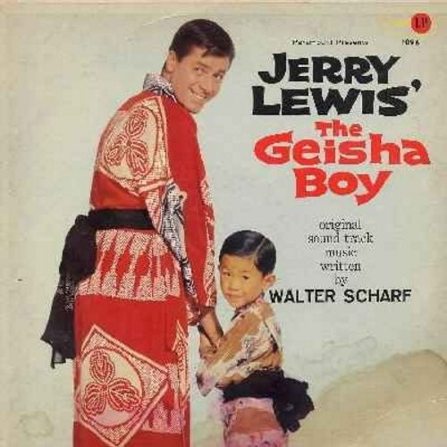 Scharf, Walter, London Synphony Orchestra - The Geisha Boy - Original Motion Picture Sound Track, Music Score by Walter Scharf, Performed by The London Symphony Orchestra (Vinyl MONO LP record) - EX8/VG6 - LP Records