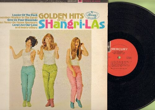 Shangri-Las - Golden Hits Of The Shangri-Las: Leader Of The Pack, What Is Love, Out In The Streets, Give Him A Great Big Kiss (Vinyl STEREO LP record) - NM9/VG7 - LP Records