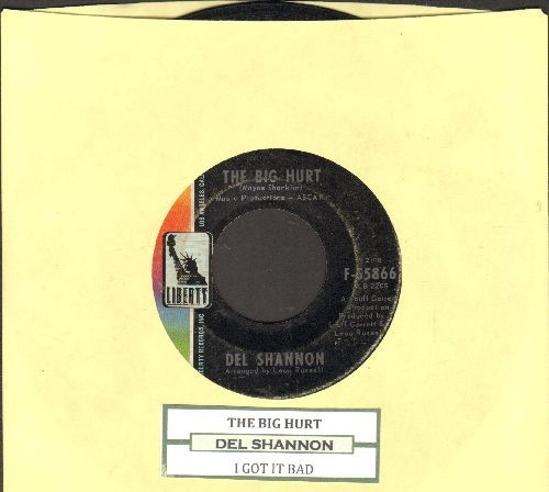 Shannon, Del - The Big Hurt/I Got It Bad (with juke box label) - VG7/ - 45 rpm Records