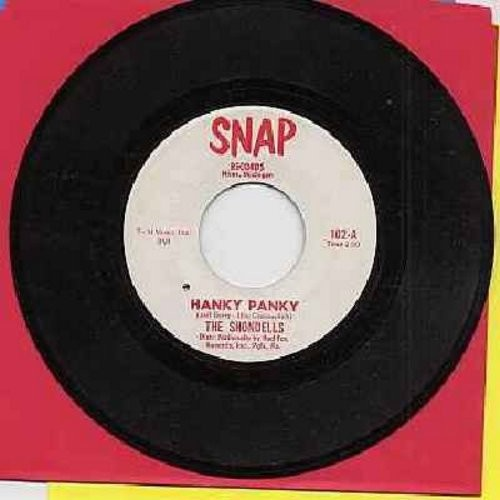 Shondells - Hanky Panky/Thunderbolt (RARE SNAP Label first issue of later #1 hit!) (minor wol) - VG6/ - 45 rpm Records