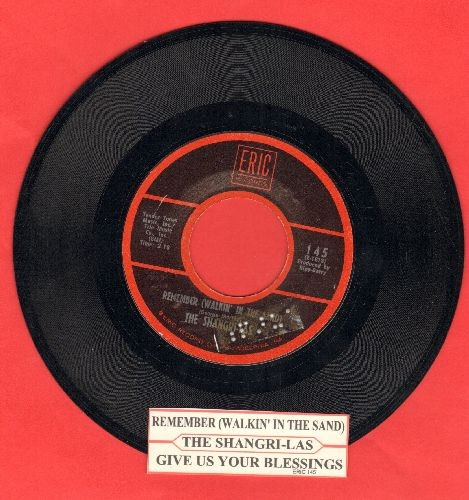 Shangri-Las - Remember (Walkin' In The Sand)/Give Us Your Blessings (early double-hit re-issue with juke box label) - NM9/ - 45 rpm Records