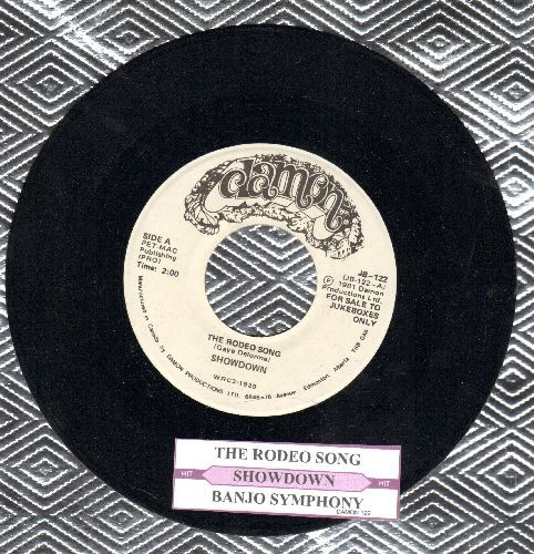 Showdown (Garry Lee) - The Rodeo Song (You Pi*s Me Off!)/Banjo Symphony (MINT condition DJ advance copy with juke box label)) - M10/ - 45 rpm Records