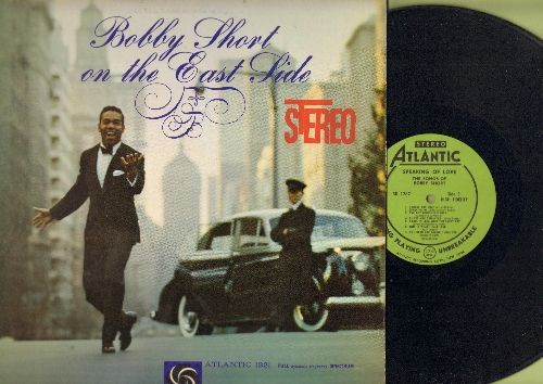"Short, Bobby - Bobby Short On The East Side (Vinyl STEREO LP record, RARE Green Label with PERSONALIZED Autograph on back cover! ""For Lil! with thanks , best wishes, Bobby Short 12/3/60"" - COLLECTABLE! - EX8/EX8 - LP Records"