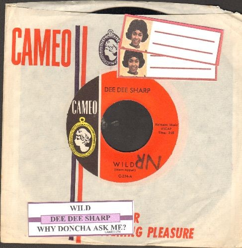Sharp, Dee Dee - Wild!/Why Doncha Ask Me? (with juke box label and RARE Cameo company sleeve) - NM9/ - 45 rpm Records