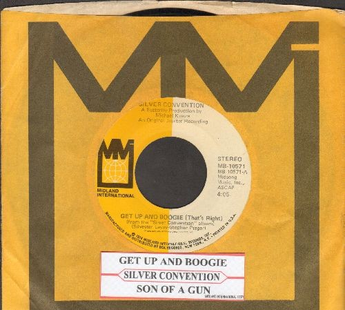 Silver Convention - Get Up And Boogie/Son Of A Gun (Disco-Club hit - follow-up to Fly Robin Fly) (with company sleeve and juke box label) - NM9/ - 45 rpm Records