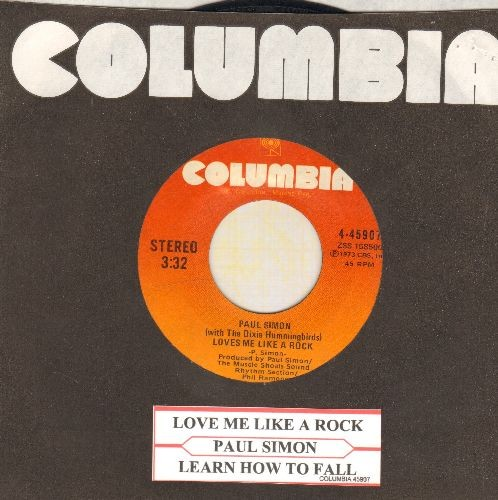 Simon, Paul - Love Me Like A Rock/Learn How To Fall (with Columbia company sleeve and juke box label) - EX8/ - 45 rpm Records