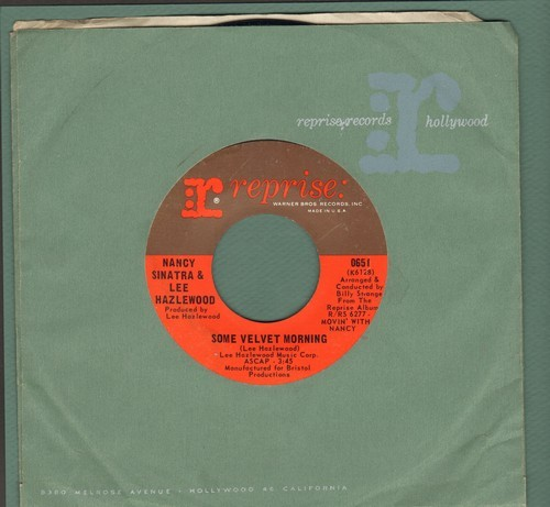 Sinatra, Nancy & Lee Hazlewood - Some Velvet Morning/Oh Lonesome Me (with Reprise company sleeve) - VG7/ - 45 rpm Records