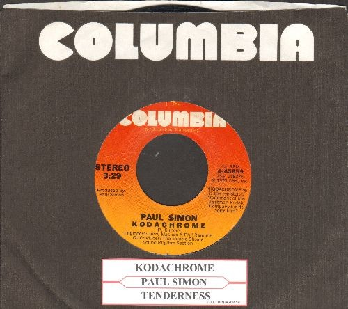 Simon, Paul - Kodachrome/Tenderness (with juke box label and Columbia company sleeve) - NM9/ - 45 rpm Records