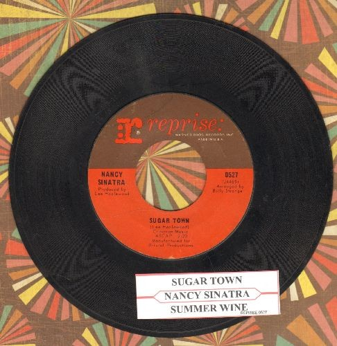 Sinatra, Nancy - Sugar Town/Summer Wine (with juke box label) - VG7/ - 45 rpm Records