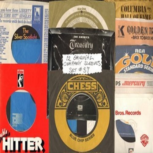 Company Sleeves - 12 Vintage Company Sleeves - Set #012-37 (exactly as pictured!) - Dress up your 7 inch vinyl records in original company sleeves of the 1950s & 60s. Good to excellent condition. - /EX8 - Supplies