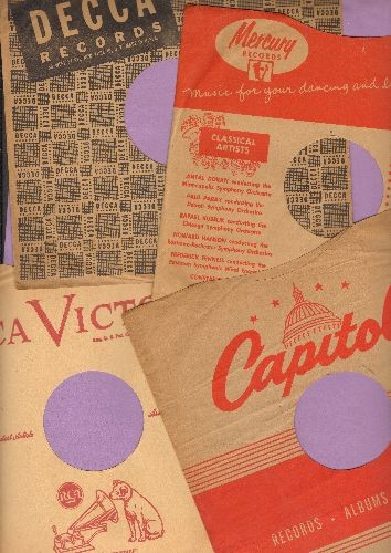 Company Sleeves - 4-Pack 10 inch vintage company sleeves (exactly as  pictured), includes Capitol, Decca, Mercury and RCA  Enhances the  appearance and