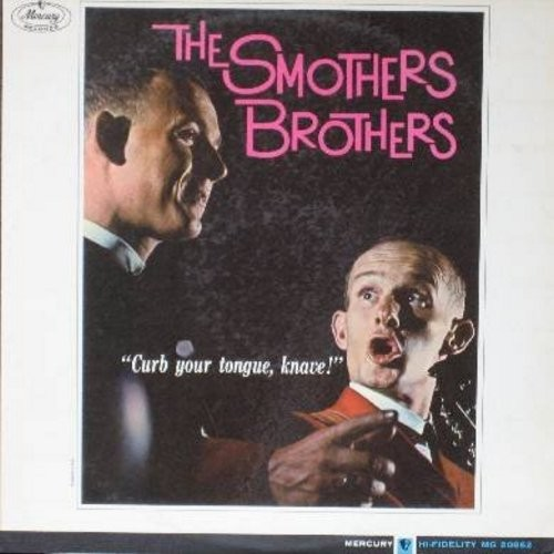 Smothers Brothers - Curb Your Tongue, Knave!: Church Bells, Flamenco, I Talk To The Trees, Swiss Christmas (Vinyl MONO LP record) - NM9/EX8 - LP Records