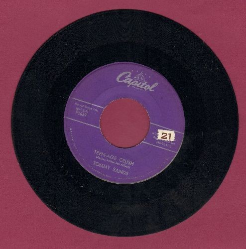 Sands, Tommy - Teen-Age Crush/Hep Dee Hootie (purple label first pressing) - EX8/ - 45 rpm Records