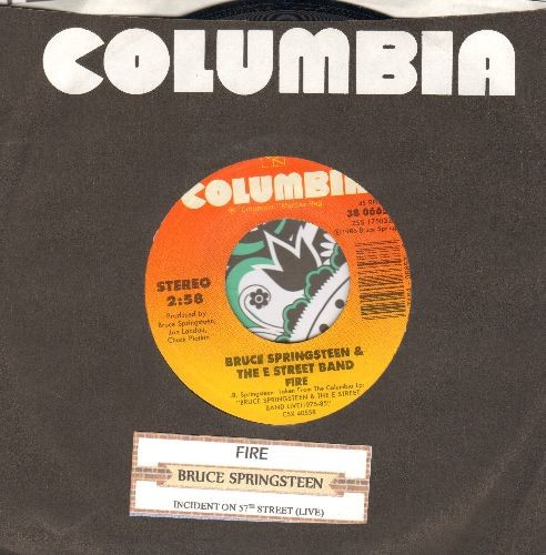Springsteen, Bruce - Fire/Incident On 57th Street (with juke box label and Columbia company sleeve) - NM9/ - 45 rpm Records