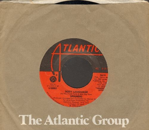 Spinners - Body Language/With My Eyes (with Atlantic company sleeve) - NM9/ - 45 rpm Records