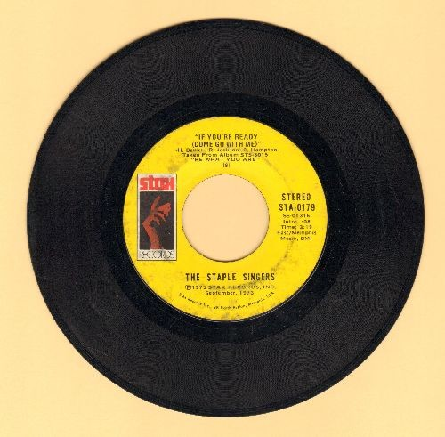 Staple Singers - If You're Ready (Come Go With Me)/Love Comes In All Colors - VG7/ - 45 rpm Records