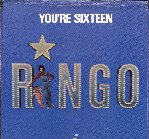 Starr, Ringo - You're Sixteen/Devil Woman (with picture sleeve) - EX8/EX8 - 45 rpm Records