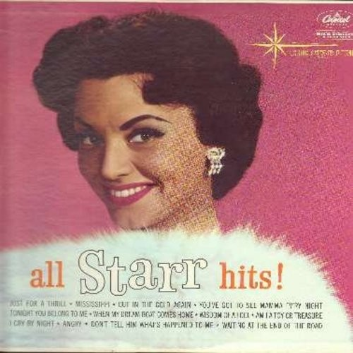Starr, Kay - All Starr Hits!: You've Got To See Mamma Ev'ry Night, Tonight You Belong To Me, Wisdom Of A Fool, Just For A Thrill (Vinyl MONO LP record, re-issue of vintage recordings) - NM9/NM9 - LP Records