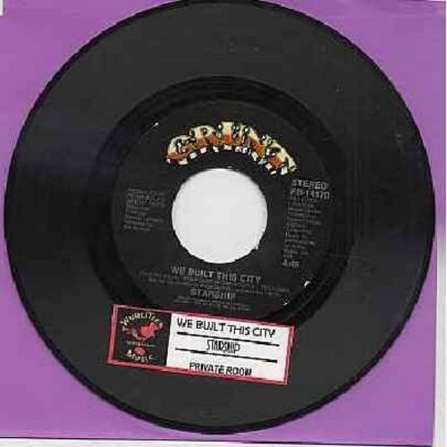 Starship - We Built This City (On Rock & Roll)/Private Room (Instrumental) (with juke box label) - EX8/ - 45 rpm Records